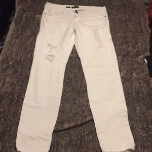 Distressed, White, Very Gently Worn, STS Jeans